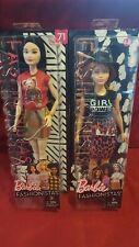 Mattel Barbie Fashionista lot of 2 dolls #80 plaid dress flannel  #59 afro hair