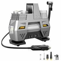 12V Portable Air Pump Compressor 150PSI Tyre Deflator Inflator w/LED Work Light