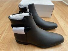 CK Calvin Klein Lorenzo Tumble Leather Calf Black Ankle Buckle Bootie Dress 9.5