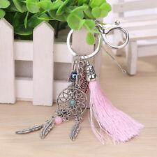 Dream Catcher Keyring Tassel Bag Pendant Key Chain Ring Phone Silver Boho Gift