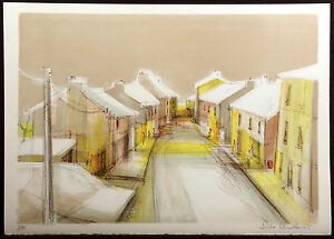 """Sacha Chimkevitch """"Ardenne Village"""" Signed & Numbered Lithograph Artwork, France"""