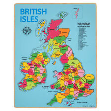 Bigjigs Toys Wooden Chunky British Isles Educational Geography Jigsaw Puzzle