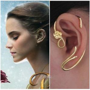 1 Pair Beauty and the Beast Belle Earring Ear Cuff Wrap Cosplay Boho Bohemian
