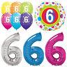 Age 6 - Happy 6th Birthday Qualatex Balloons {Helium Party Balloons Boy/Girl}