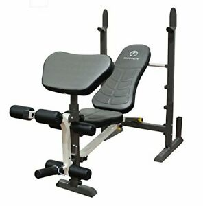 FULL BODY WORKOUT ADJUSTABLE SEAT Folding Standard Weight Bench Easy Storage