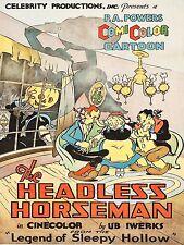 1934 Headless Horseman High Quality Metal Fridge Magnet 3 x 4 inches 9283