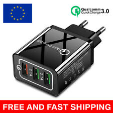 3 Port Fast Qualcomm Quick Charge QC 3.0 USB Hub Wall Charger Adapter LUX