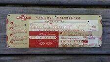Vintage 1946 Homart Heating Calculator Sears, Roebuck & Co Slide Rule #F10755