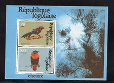 Togo 1981 Red Bishop Bird, Violet backed Sunbird Mini Sheet MNH Sc C447a