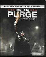 The First Purge A Nation Reborn (4K Ultra HD + Blu-ray + Digital) with slipcover