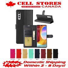 Leather Magnetic Credit Card Slot Wallet Flip Cover Stand Case for LG Velvet