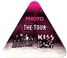 KISS Authentic 2012 Tour w/ Motley Crue Satin cloth backstage pass