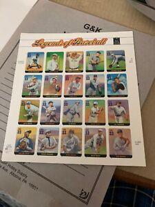 Scott # 3408 Full Sheet Legends of Baseball MNH