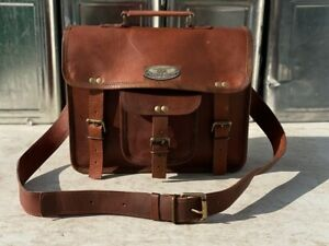 """Up to 18"""" Women Leather Shoulder Tote Purse Laptop Messenger Satchel Useful Gift"""