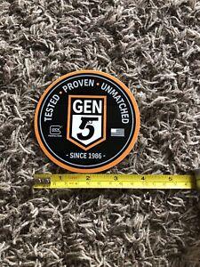 Glock Black orange Gen 5 Tested Proven Unmatched Sticker Decal Firearm Shooting