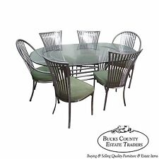 Shaver Howard Steel Frame Dining Table & 6 Chairs Set