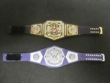 2 Custom Wrestling Figure Belts WWE WWF NXT (Action figure not included)
