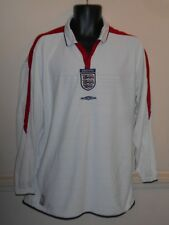 Rare England Home Shirt 2003-2005 Euro 2004 xl men's  Long Sleeve #988