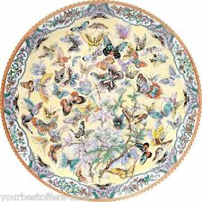 Bits and Pieces Puzzle 1000 Piece Jigsaw Puzzles Round Jigsaw Puzzle Butterflies
