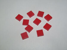 Lego ® Lot x10 Plaque Lisse Carrelage Rouge 1x1 Plate with Groove Red 3070 NEW