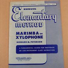 RUBANK ELEMENTARY MENTHOD Marimba or Xylophone, Howard M Peterson