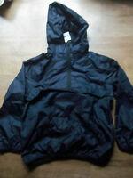 Boys Next Black packaway waterproof hooded cagule Age  12-18 months BNWT  xx