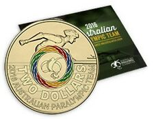 2016 Rio Paralympic Games - Royal Australian Mint RAM $2 Coloured Coin Folder