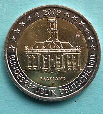 Deutschland  2 Euro Gedenkmünze 2009 F Saarland Ludwigskirche UNC  aus Rolle