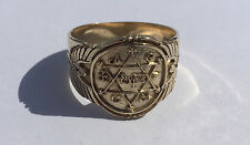 King Solomon's Ring of Power and Prosperity, Handmade Solid  Gold