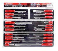 22pc Screwdriver Set DIY Professional Magnetic Tips Flat Phillips Torx Stubby