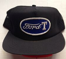 1970s 1980s MODEL T FORD TRUCKER BASEBALL CAP HAT, BLACK MESH, VINTAGE