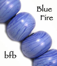 "BFB-Premium Handmade Lampwork Glass Bead Spacers ""BLUE/ BLUE MIX"" 8 Beads"