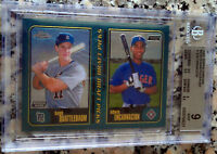 EDWIN ENCARNACION 2001 Topps Chrome Rookie Card RC BGS 9 Yankees $ HOT 401 HRs $