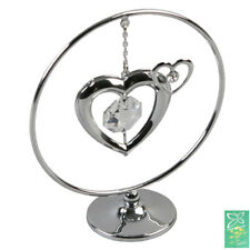Collectable Crystocraft Mobile Crystal Gift - Silver Heart Swarovski Elements