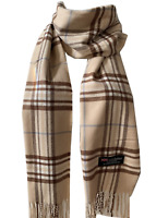 New Winter Womens Mens 100% Cashmere Wool Wrap Scarf Plaid Scarves (#35)