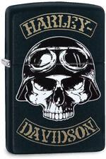 Zippo Lighter Harley Davidson Skull Windless USA Made 06739
