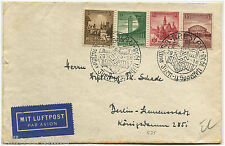 POLAND, AIR MAIL, GERMANY OCCUPATION ANNULS BRESLAU, JUL 1938, 4 GERMANY STMPS m