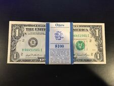 1981 One Dollar ($1) Bill Uncirculated Consecutive Sequential BEP Wrap - 1 Note