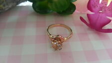 Ring Sterling Silver *Size 6 *C226 Beautiful White Cubic Zirconia Gold Plated