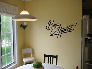 BON APPETIT VINYL WALL DECAL KITCHEN HOUSE DECOR SIGN LETTERING STICKER EAT
