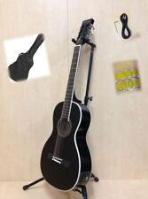 Caraya Parlor Guitar Ebony 590bk With EQ Gig Bag Extra String Set