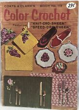 1959 Coats & Clark's Color Crochet Book No. 113 Vintage Craft Patterns 35pages