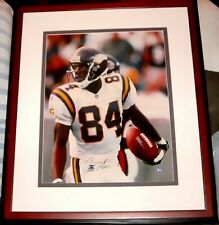 Randy Moss autographed signed Vikings 16x20 poster size UDA photo framed 157/208