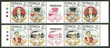 More details for tonga 1994 womens conference medical law police gutter pairs set mnh