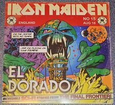 "Iron Maiden PROMO CD El Dorado COMIC BOOK 7"" SLEEVE"