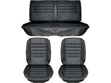 1965 Chevelle Standard Seat Upholstery Full Set, Black, Coupe