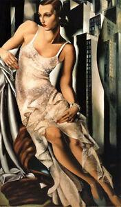 """Art oil painting portrait lempicka-portrait-de-madame-allan-bott canvas 24""""x36"""""""