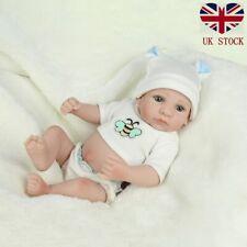 Full Body Vinyl Silicone Reborn Dolls Lifelike Newborn Boy Gift Mini Doll Toy
