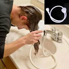 Single Wide Tap Bath Sink Shower Head Spray Hose Push On Mixer Hairdresser Pets