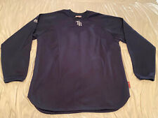 Tampa Bay Rays Navy Majestic Authentic Therma Base MLB Baseball Pullover Size XL